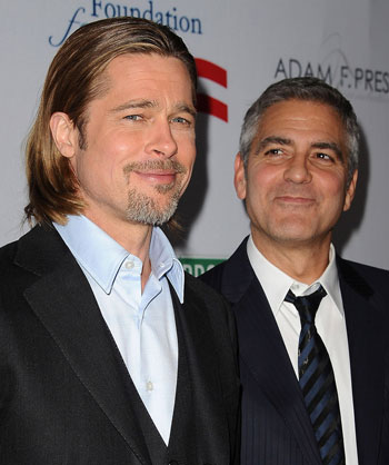 Pitt and Clooney - once friends now rivals