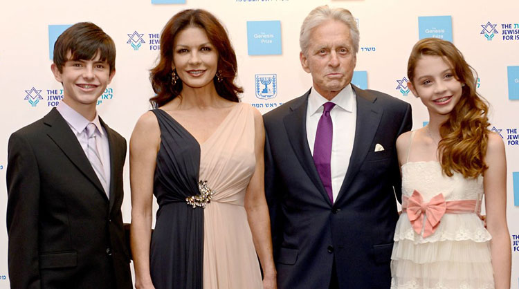 Michael Douglas feted with Genesis Prize in Israel