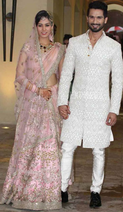 Shahid Kapoor & Mira Rajput are now married
